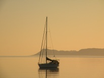 Sailboat, Loreto, Baja California, the mystical Sea of Cortez ....