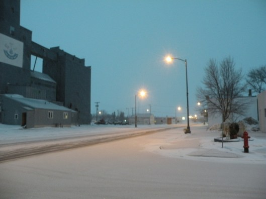 """If this grain elevator looks familiar, that's because you saw it in the movie """"Fargo.""""  My parents Minnesota home is about 3 blocks to the left of the elevator in the photo."""